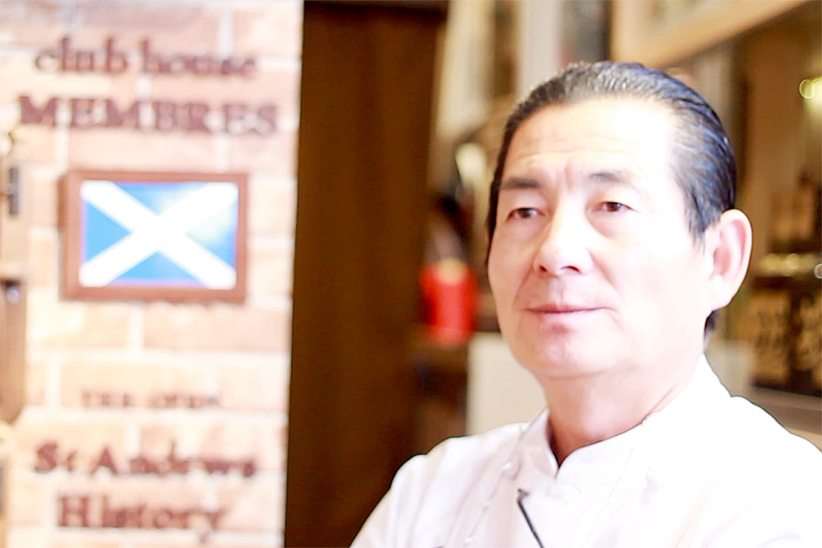 The owner and chef Sonoshi Okumoto